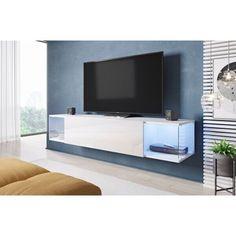 Акция на Мебель для телевизора CAMA Sky классический стиль Белый мат/Белый глянец от Allo UA