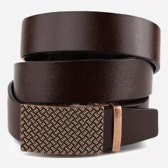 Акция на Мужской ремень кожаный Vintage leather-20265 115 см Коричневый от Rozetka