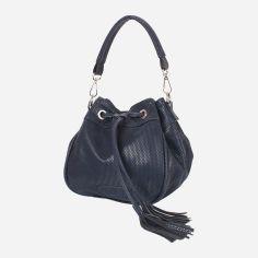 Акция на Женская сумка-мешок Laskara LK10195-navy Темно-синяя (2900000056398) от Rozetka