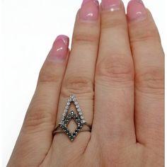 Акция на Кольцо серебряная с куб. цирконием 21095б / ч 16.5 размер от Allo UA