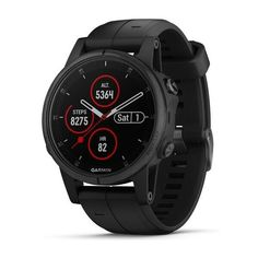 Акция на Garmin Fenix 5S Plus Sapphire Black with Black Band (010-01987-03) от Allo UA