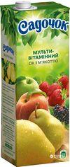 Акция на Упаковка сока Садочок Мультивитаминный с мякотью 1.45 л х 8 шт (4823063107433) от Rozetka