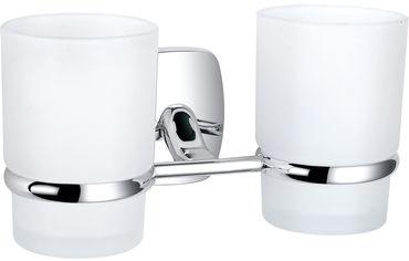 Акция на Стакан для ванной PERFECT SANITARY APPLIANCES RM 1801 круглый двойной Стекло Латунь от Rozetka