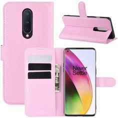Акция на Чехол-книжка Litchie Wallet для OnePlus 8 Pink от Allo UA