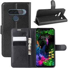 Акция на Чехол-книжка Litchie Wallet для LG G8s ThinQ Black от Allo UA