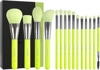 Акция на Набор кистей для макияжа Docolor N1001 Neon Green 10 шт (6902000100114) от Rozetka