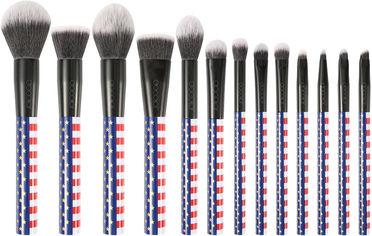 Акция на Набор кистей для макияжа Docolor Р1305-1 Stars & Stripes 13 шт (6902000130517) от Rozetka