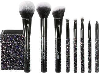 Акция на Набор кистей для макияжа Docolor Т0805 Sparkle Black 8 шт (6902000080584) от Rozetka