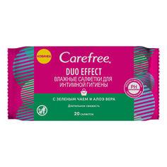 Акция на Салфетки для интимной гигиены Carefree 20 шт  ТМ: Carefree от Antoshka
