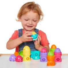 Акция на Развивающая игрушка-пирамидка Tomy Яркие яйца T73083 ТМ: Tomy от Antoshka