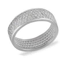 Акция на Кольцо из серебра с куб. циркониями, размер 19.5 (072128) от Allo UA