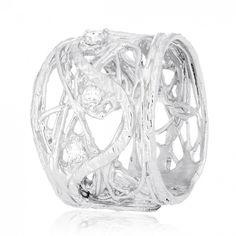 Акция на Кольцо из серебра с куб. циркониями, размер 18.5 (572236) от Allo UA