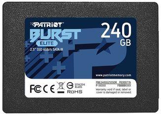 """Акция на Твердотельный накопитель SSD 2.5"""" Patriot 240GB SATA TLC Burst Elite (PBE240GS25SSDR) от MOYO"""
