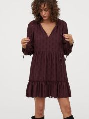Акция на Платье H&M 0865034-1 40 Бордовое (2000001808153) от Rozetka