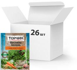 Акция на Упаковка приправы ТОРЧИН Весенняя зелень 25 г х 26 шт (4820183200051) от Rozetka