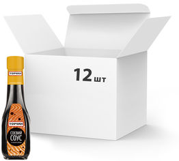 Акция на Упаковка соевого соуса ТОРЧИН со вкусом Имбиря 190 мл х 12 шт (7613036251136) от Rozetka