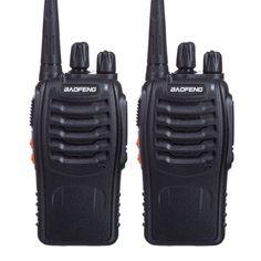 Акция на Портативная Рация Baofeng BF-888S комплект 2 шт., UHF, 5 Вт, 1500 мАч + гарнитура + Остегивающийся шнурок на шею  | quot;Mirkit | quot; черный от Allo UA