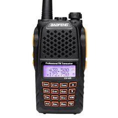 Акция на Рация Baofeng UV-6R, VHF/UHF, 5 Ватт, батарея 2000 мАч+ Гарнитура Baofeng + Ремешок на шею Mirkit черный от Allo UA