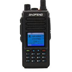 Акция на Рация цифровая стандарта DMR Baofeng DM-1702, VHF/UHF, 5 Ватт, батарея 2200 мАч + Гарнитура Baofeng + Ремешок на шею Mirkit черный от Allo UA