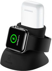 Акция на Usams ZJ051 Dock Stand Black (ZJ51ZJ01) for Apple Watch and Apple AirPods от Stylus