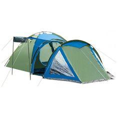 Акция на Палатка туристическая трекинговая польская Presto Soliter 4, сине-зеленая, четырехместная от Allo UA