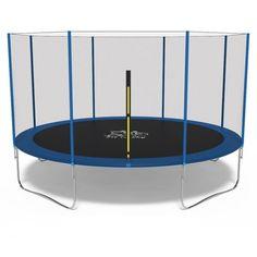 Акция на Батут Fit to Sky 404 см с внешней сеткой (без лестницы) - синий, огромный батут для 4 и больше детей от Allo UA