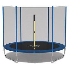 Акция на Батут Fit to Sky 374 см с внешней сеткой (без лестницы) - синий, оптимальный батут для 3 и больше детей от Allo UA