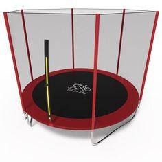 Акция на Батут Fit to Sky 183 см с внешней сеткой (без лестницы) - красный, оптимальный батут для 1-2 детей от Allo UA