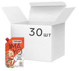 Акция на Упаковка майонеза Торчин Tasty Mayo Чили-Шрирача 200 мл х 30 шт (7613039760475) от Rozetka