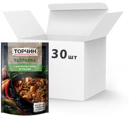 Акция на Упаковка заправки ТОРЧИН с Маринованными огурцами для первых и вторых блюд 240 г х 30 шт (7613036647496) от Rozetka