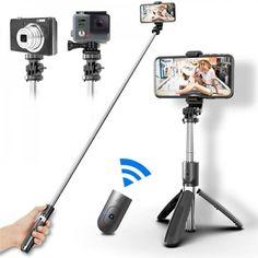 Акция на Монопод для смартфона Selfie L02 с кнопкой-пультом Bluetooth 100см от Allo UA