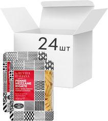 Акция на Упаковка макарон La Ruvida Penne Mezzane Rigate bronzo 500 г х 24 шт (8008857126340) от Rozetka