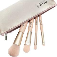 Акция на Набор кистей для макияжа Farmasi Soft Pink с косметичкой (9700280) (ROZ6400103983) от Rozetka