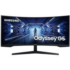 """Акция на Монитор 34"""" Samsung Odyssey G5 (LC34G55TWWIXCI) Black от Allo UA"""
