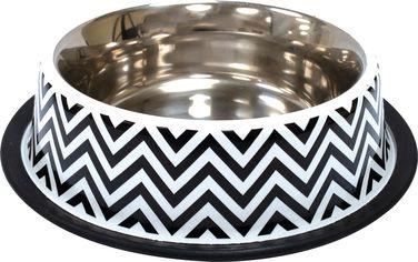 Акция на Миска металлическая для собак и кошек Croci Twiggy Stripes 21 см 700 мл (8023222228153) от Rozetka