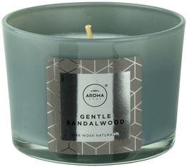 Акция на Ароматическая свеча из натурального воска Aroma Home Elegance Gentle Sandalwood 115 г (5902846836643) от Rozetka