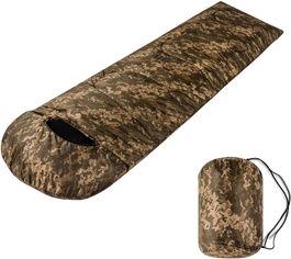 Акция на Спальный мешок одеяло Champion с капюшоном Камуфляжный (CHM00451-3) от Rozetka