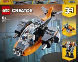 Акция на Конструктор LEGO Creator Кибердрон 113 деталей (31111) от Rozetka