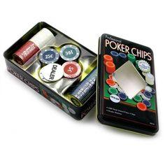Акция на Набор фишек для покера, 100шт фишки с номиналом в металл коробке от Allo UA