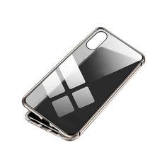 Акция на Магнитный чехол BauTech Для iPhone XS Max из закаленного стекла Серебристый (1006-390-02) от Allo UA