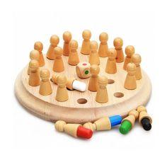 Акция на Деревянная развивающая игра Lesko DL-002 Memory Chess для детей от Allo UA