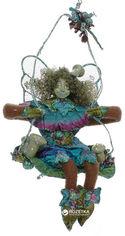 Акция на Елочная игрушка Scorpio Кукла-фея лесная 20 см Зеленая (570750)(4820005707508) от Rozetka