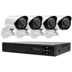 Акция на Комплект видеонаблюдения 4 камеры и регистратор DVR Gibrid KIT 520 AHD 4ch 4.0MP H.264 с датчиком движения от Allo UA