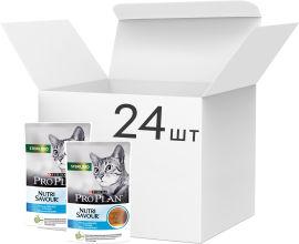 Акция на Влажный корм для взрослых стерилизованных кошек Purina Pro Plan Sterilised Nutrisavour кусочки в паштете с треской 85 г х 24 шт (7613038265117) от Rozetka