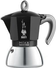 Акция на Гейзерная кофеварка Bialetti New Moka Induction на 6 чашки Черная (0006936) от Rozetka