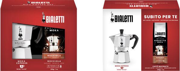 Акция на Набор Bialetti Moka Гейзерная кофеварка на 3 чашки + 200 г кофе (0003531) от Rozetka