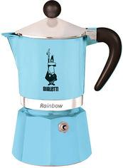 Акция на Кофеварка Bialetti Rainbow гейзерная на 6 чашек Светло-голубая (0005043) от Rozetka