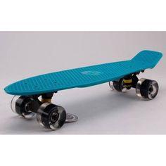 Акция на Скейтборд Пенни Борд Fish Skateboard penny Светятся колеса Бирюзовый 57 см (FL11) от Allo UA
