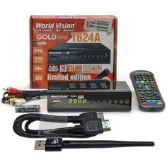 Акция на T2-тюнер World Vision T624А + WI-FI адаптер и HDMI кабель от Allo UA