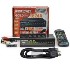 Акция на T2-тюнер World Vision T624А + HDMI кабель от Allo UA
